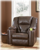 Ashley Paramount DuraBlend - Brindle 7640106 Recliner W/ Power & Cupholders