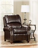Ashley Durablend-Mahogany 7730130 Low Leg Recliner-Mahogany