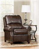 Ashley Durablend-Brindle 7730330 Low Leg Recliner-Brindle