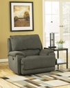 Ashley Herztio - Steel  8970282N 0 Wall Recliner w/ Wide Seat & Power