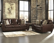 ASHLEY 9100338-9100335 Tivona-Coffee Sofa Set