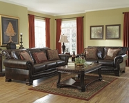 ASHLEY 9430038-9430035 Ledelle DuraBlend-Antique Sofa Set
