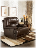 Ashley Bromley - Brown 9500098 Rocker Recliner w/Power