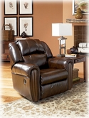 Ashley Woodsdale DuraBlend - Antique 9630025 Rocker Recliner