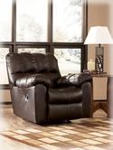 Ashley Max - Chocolate 9650128 Swivel Rocker Recliner