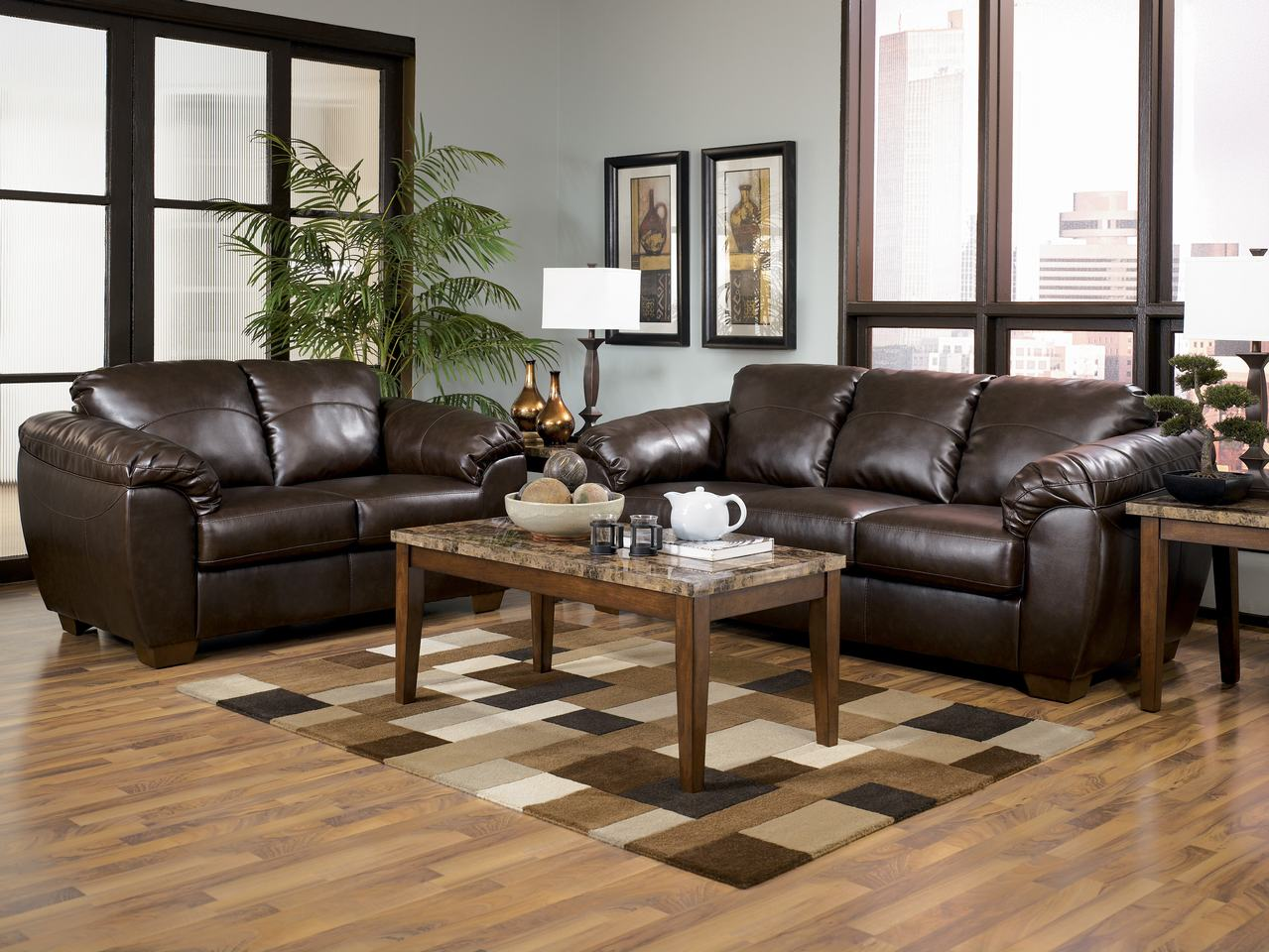 Ashley Leather Living Room Furniture Submited Images