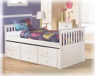 Ashley Lulu B102-50D/50T/53/83 Twin trundle bed (wood)