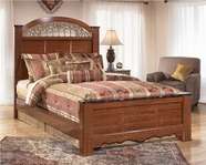 Ashley Fairbrooks Estate B105-66/68/99 King panel bed
