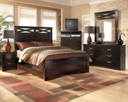 Ashley X-cess B117-54/57/96 Queen panel bed