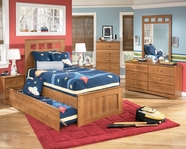 Ashley Benjamin B127-52/53/83/51/B100-82 Twin panel bed w/ trundle