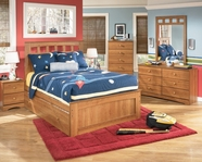 Ashley Benjamin B127-84/87/86/51/B100-82 Full panel bed w/ trundle