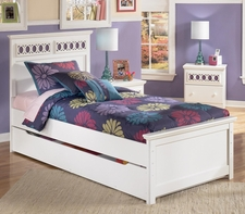 Ashley Zayley B131-52/53/60/83/B100-11 Twin panel bed w/ trundle
