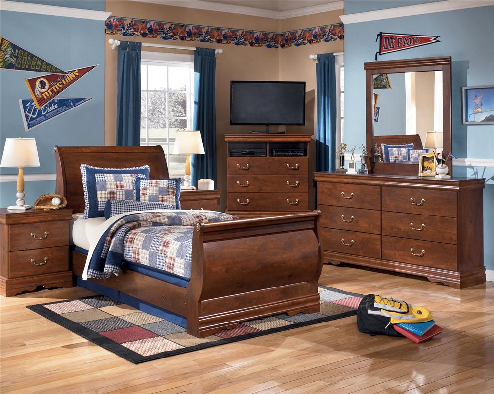 B178 31 36 62 63 82 Twin Sleigh Bedroom Set Chicago Furniture Store