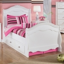 Ashley Exquisite B188-62N/63N/82N/60 Twin sleigh bed w/ underbed storage