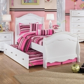 Ashley Exquisite B188-84N/87N/88N/50/B100-82 Full sleigh bed w/ twin trundle