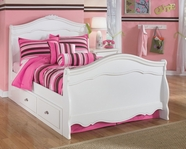 Ashley Exquisite B188-84N/87N/88N/60 Full sleigh bed w/ underbed storage