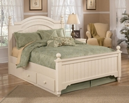 Ashley Cottage Retreat B213-54N/57N/89N/70 Full poster bed w/ underbed storage
