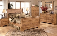 Ashley Bittersweet B219-31/36/63/65/86 Queen Sleigh Bedroom Set