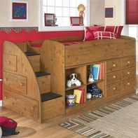 Ashley Stages B233-13L/17/19/68T Loft bed w/ open bookcase
