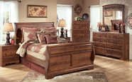 Ashley Timberline B258-31/36/54/57/96 Queen Sleigh Bedroom Set