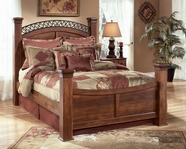 Ashley Timberline B258-64N/71N/77/98N Queen poster bed