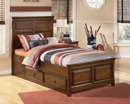 Ashley Portsquire B397-50/84/87/71 Full bed w/ 2 drawer storage
