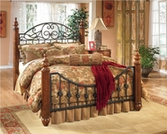 Ashley Wyatt B429-151/72/99 King poster bed