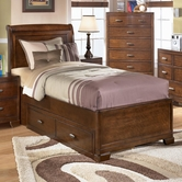 Ashley Alea B447-84/87/60/71 Full sleigh bed w/ 2 drawer storage unit