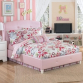 Ashley Alyn B475-155/188 Full upholstered bed (pink)