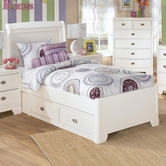 Ashley Alyn B475-84/87/50/71 Full sleigh bed w/ 2 drawer storage unit