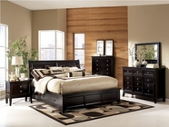 Ashley Martini Suite B551-31/36/74/75L/75R/77 Queen Platform Bedroom Set w/ storage
