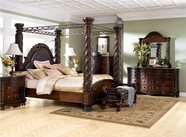 Ashley North Shore B553-131/36/150/151/162/172/199 Dresser, Mirror ,king poster bedroom set