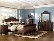 Ashley North Shore B553-131/36/74/75/77 Queen Sleigh Bedroom Set