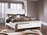 Ashley Prentice B672-74/77/98 Queen sleigh bed w/ storage