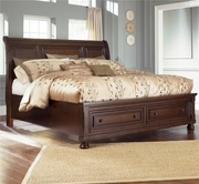 Ashley Porter B697-74/77/98 Queen sleigh bed w/ storage