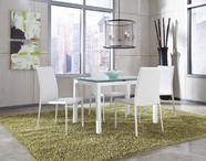 ASHLEY Baraga D410-21/01 White rectangular ext dining set