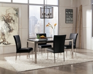 ASHLEY Baraga D410-25/04 Black rectangular dining set