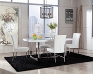 ASHLEY Baraga D410-26/03 White rectangular dining set