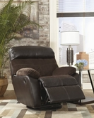 ASHLEY Berneen-Coffee 5450128 Swivel Rocker Recliner