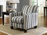 ASHLEY Caltiff - Blue 788xx21 Accent Chair (stripe)