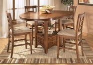 Ashley Cross Island D319-324(4)/42 -42 Table and (4) stools