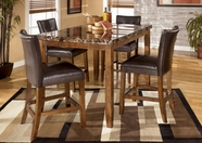 Ashley Lacey D328-32/124(4) -32 Rec table w/ (4) barstools
