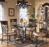 Ashley Alyssa D345-01(4)/15 -15 Round table and (4) chairs