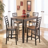 Ashley Alonzo D367-32/124(4) -32 table w/ 4 barstools