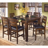 Ashley Larchmont D442-124(4)/32 -32 Counter table and (4) barstools
