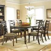 Ashley Hayley D480-01(4)/35 -35 Rectangular Ext Table And (4) Chairs