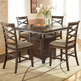 Ashley Hayley D480-124(4)/32 -32 Counter height w/ 4 barstools