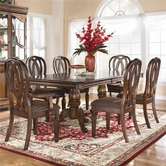 Ashley Hamlyn D527-01(4)/55T/55B -55 Rectangular table and (4) chairs