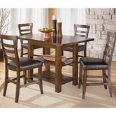 "Ashley Pinderton D544-32/124(4) -32 Table and (4) 24"" barstools"