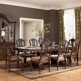 Ashley North Shore D553-55T/55B/03(4) -55T/B Table And (4) Wood Side Chairs